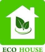 Maison eco — Vecteur
