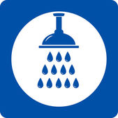 Blue shower head icon — Stock Vector