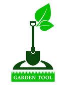 Garden tool sign — Stock Vector