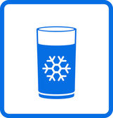 Water glass with snowflake — Stock Vector
