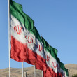Iranian Flags — Stock Photo