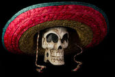 Dia De Los Muertos - Day of The Dead Skull With Sombrero — Stock Photo