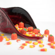 Candy Corn Cornucopia — Stock Photo