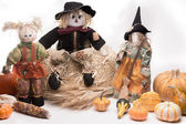Harvest Scarecrow Family — Stock Photo