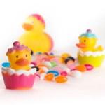 Easter Rubber Ducks — Stock Photo