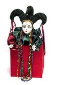 Mardi Gras Clown — Stock Photo