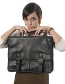 Professional Female with Briefcase — Stockfoto