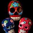 Stock Photo: Colorful Day of Dead Skulls