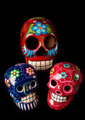 Colorful Day of The Dead Skulls — Stockfoto