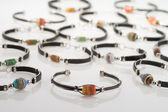 Beaded Glass Bracelet Collection — Foto Stock