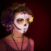 Day of the Dead Girl in Costume — Stock Photo