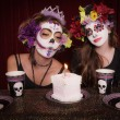 Day of The Dead Birthday Party — Stock Photo