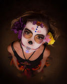 Day of The Dead Girl — Stockfoto