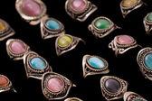 перуанский artisian кольцо коллекция — Стоковое фото