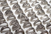 Men's Ring Collection — Stock Photo