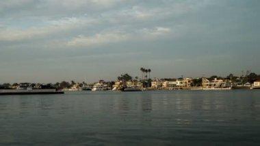 Balboa Ferry Newport Beach Time Lapse — Stock Video