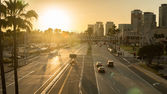 Long Beach City at Sunset — Stock Photo