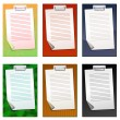 Stock Vector: Colored clipboards