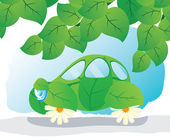 Eco-car. — Stock Vector