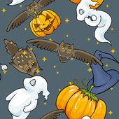Halloween seamless texture. — Stock Vector