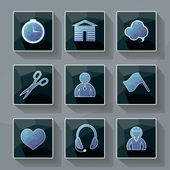 Set of vector icons in a modern style polygon. — Stock Vector