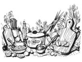 Cocina — Vector de stock
