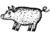 Wild boar — Stock Vector
