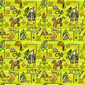 Ethnic decorative seamless pattern — Stock Vector