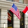 Canada USA Flags — Stock Photo