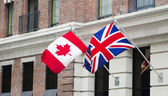 Canada Britain Flags — Stock Photo