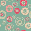 Mint bubbles seamless pattern — Stock Vector