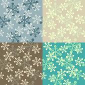 Snowflake seamless pattern set — Stock Vector