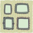 Stock Vector: Scrapbooking vintage frames for boy