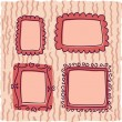 Stock Vector: Scrapbooking vintage frames for girl