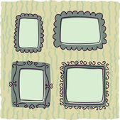 Scrapbooking vintage frames for boy — Stock Vector
