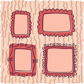 Scrapbooking vintage frames for girl — Stock Vector