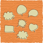 Cute vintage speech bubbles — Stock Vector