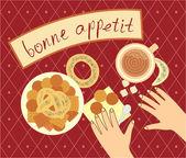 Bon appetit for the breakfast — Stock Vector