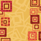 Marco abstracto frontera con plazas — Vector de stock