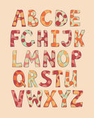 Doted funny letters — Vetorial Stock