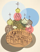 Bubble blower sketch of traditional russian church — Stock Vector