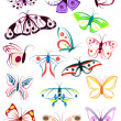 Outlines of butterflies — Stock Vector #12464651