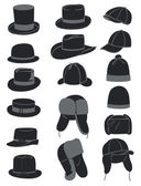 Men's hats — Vettoriale Stock