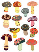Abstract mushrooms — Stock Vector