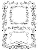 Decorative frames and pattern — Stock Vector