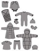 одежда для новорожденных — Cтоковый вектор