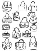 Bags silhouettes — Stock Vector