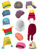 Winter hats — Stock Vector