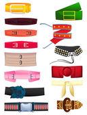 Women's belts — Stock Vector
