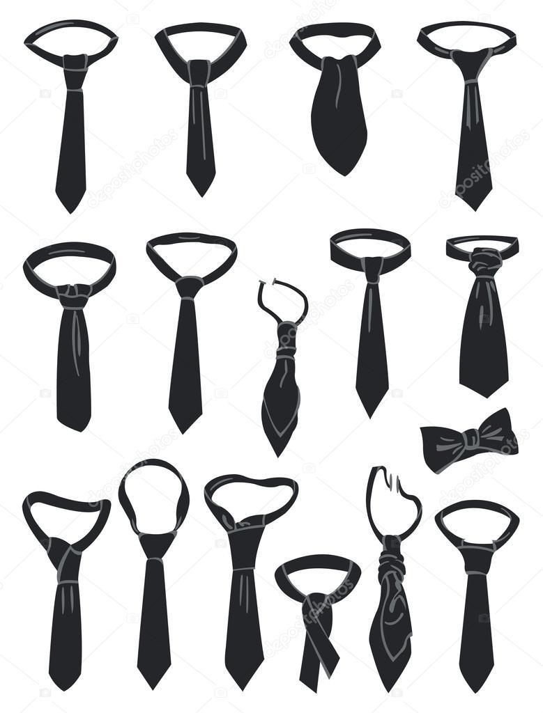 领带— 图库矢量图像08